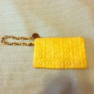 [deux lux] yellow wristlet